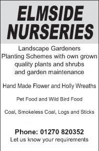Elmside Nurseries - Advertiser in the Parish Magazine