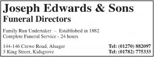 Joseph Edwards & Sons - Advertiser in the Parish Magazine