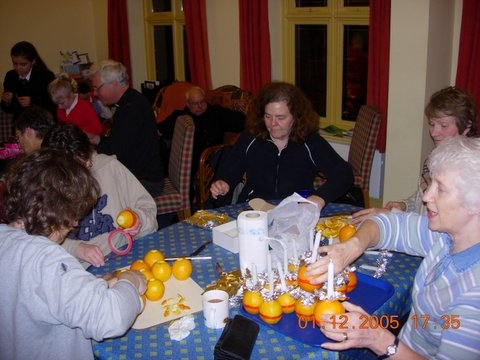Preparing for Christingle